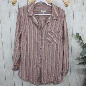Susina Pink Striped Flannel